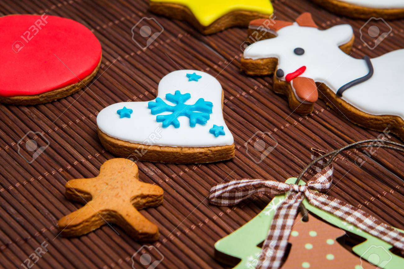 Christmas Cookies Tree Snowman Reindeer Gingerbread Man