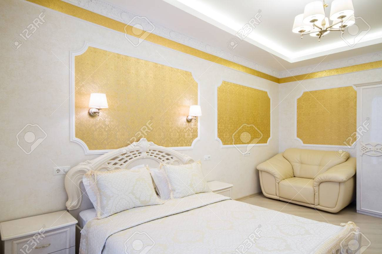 Luxurious Bed With Cushion In Royal Bedroom Interior Hotel Room Stock Photo Picture And Royalty Free Image Image 38402328