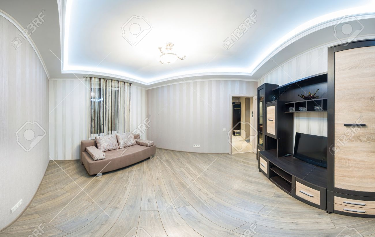 Spacious Room With Furniture, Large Closet And TV. Modern Style ...