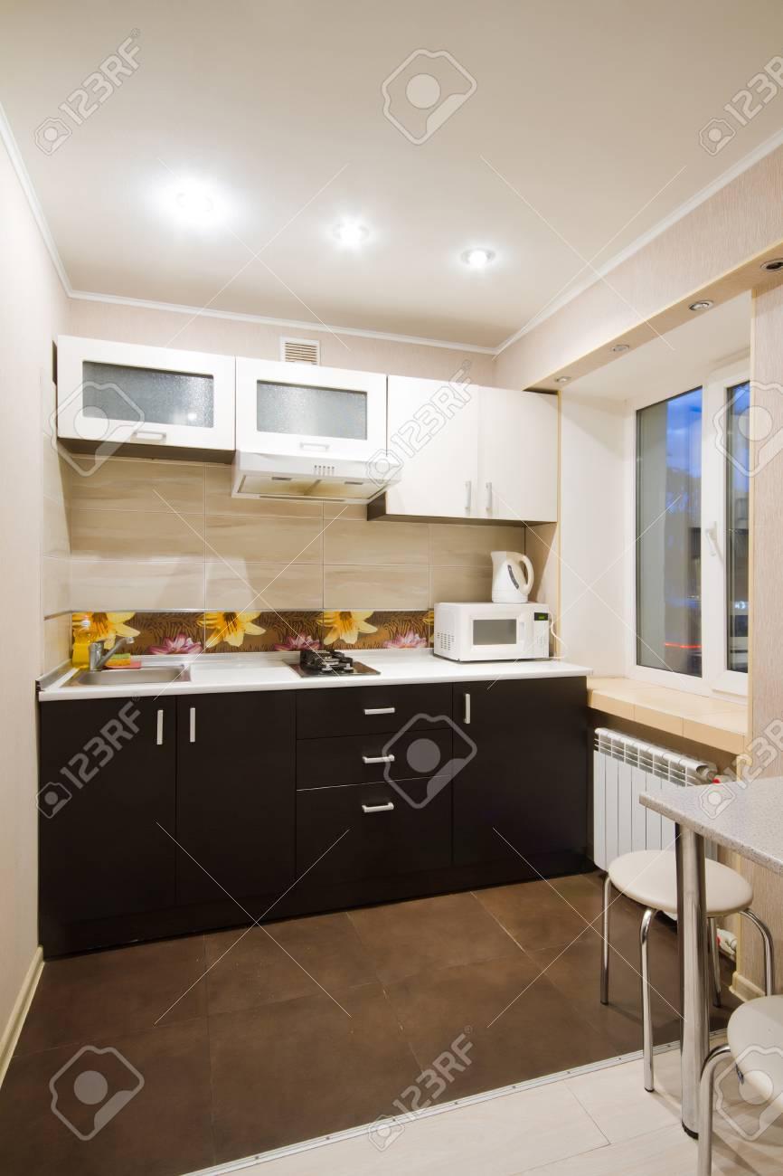 Schönes Haus Studio, Innen, Blick In Die Küche Lizenzfreie Fotos ...