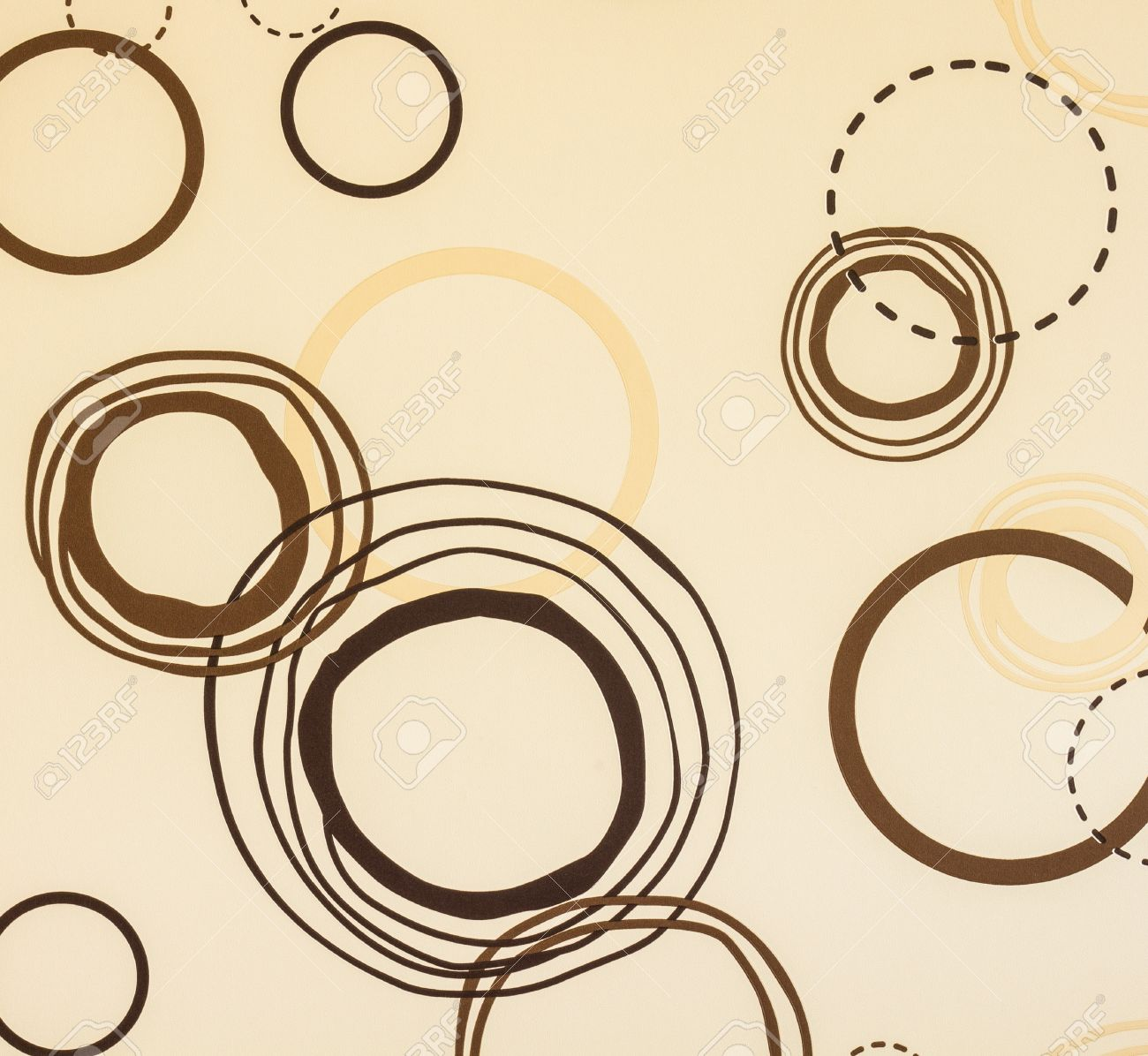 Circle Brown Wallpaper Coffee Shop Style Stock Photo