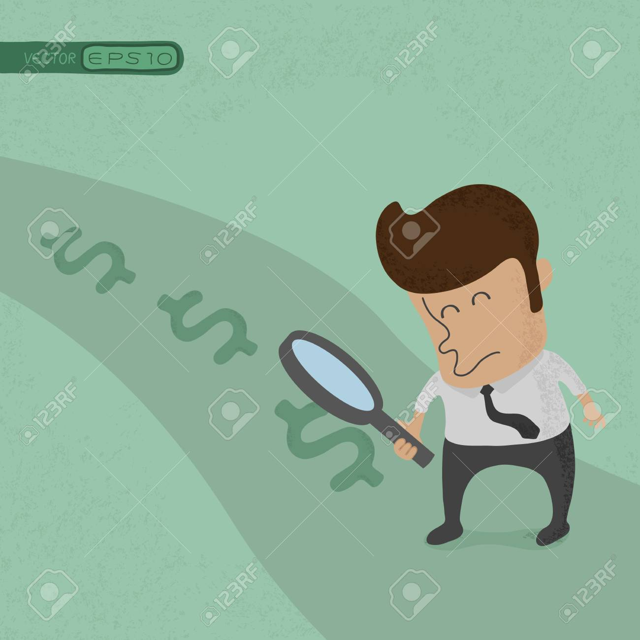 Business man looking to success, eps10 vector format Stock Vector - 19718211