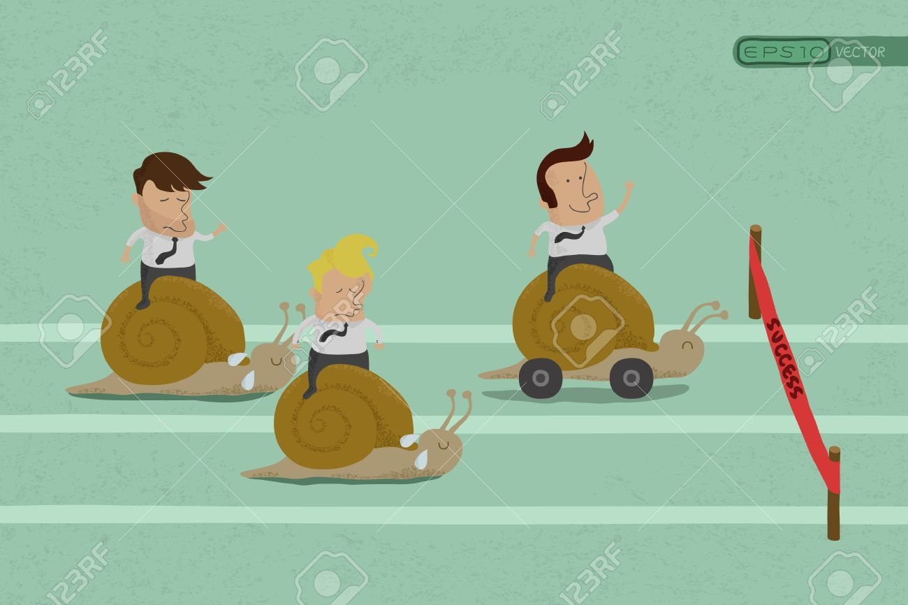 Business persons reaching the goal in a race , eps10 vector format Stock Vector - 19718174