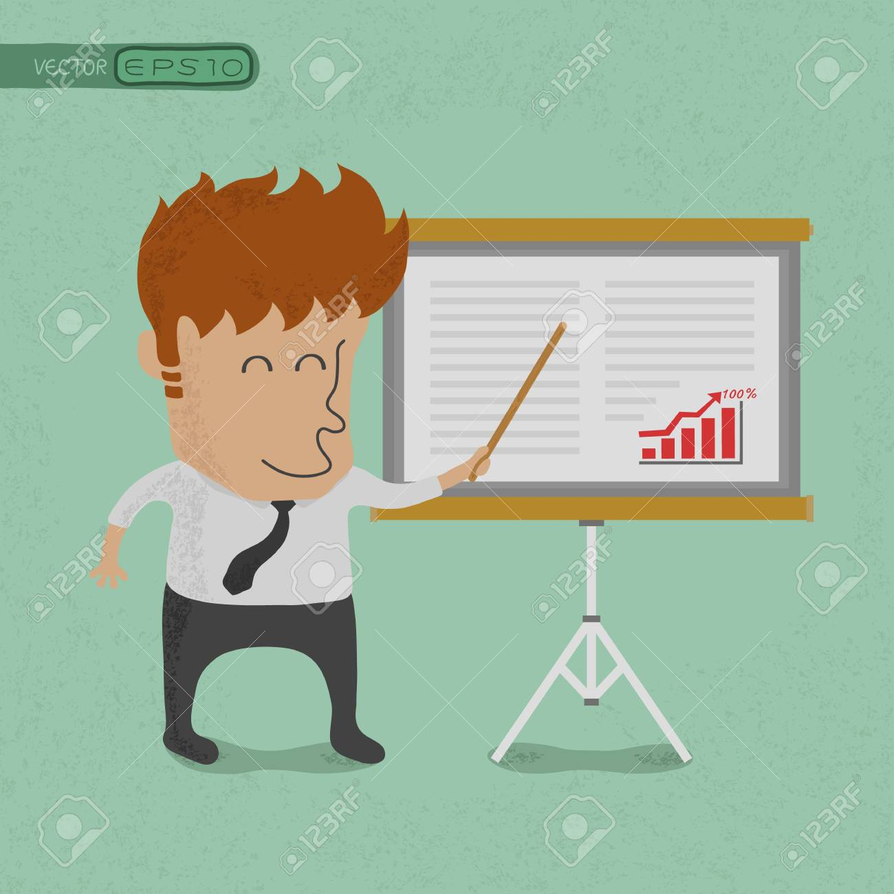 Business man making a presentation in front of a board  , eps10 vector format Stock Vector - 19717995