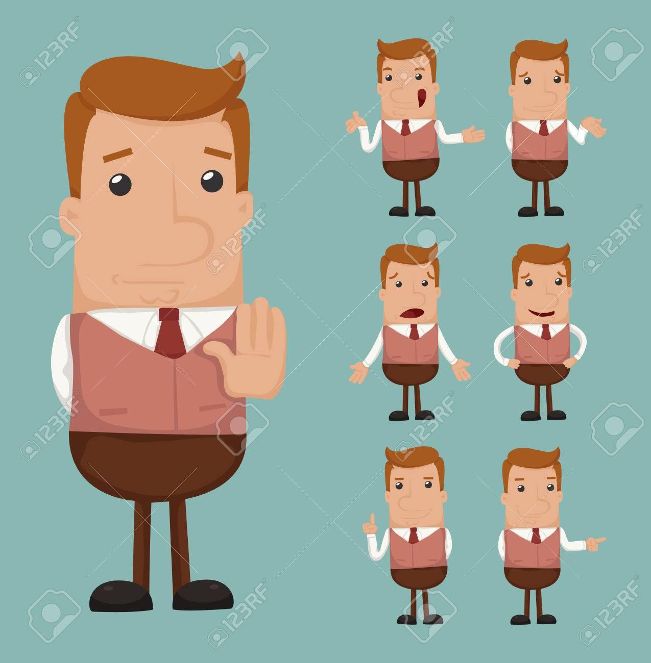 Set of businessman emotion - 27446927