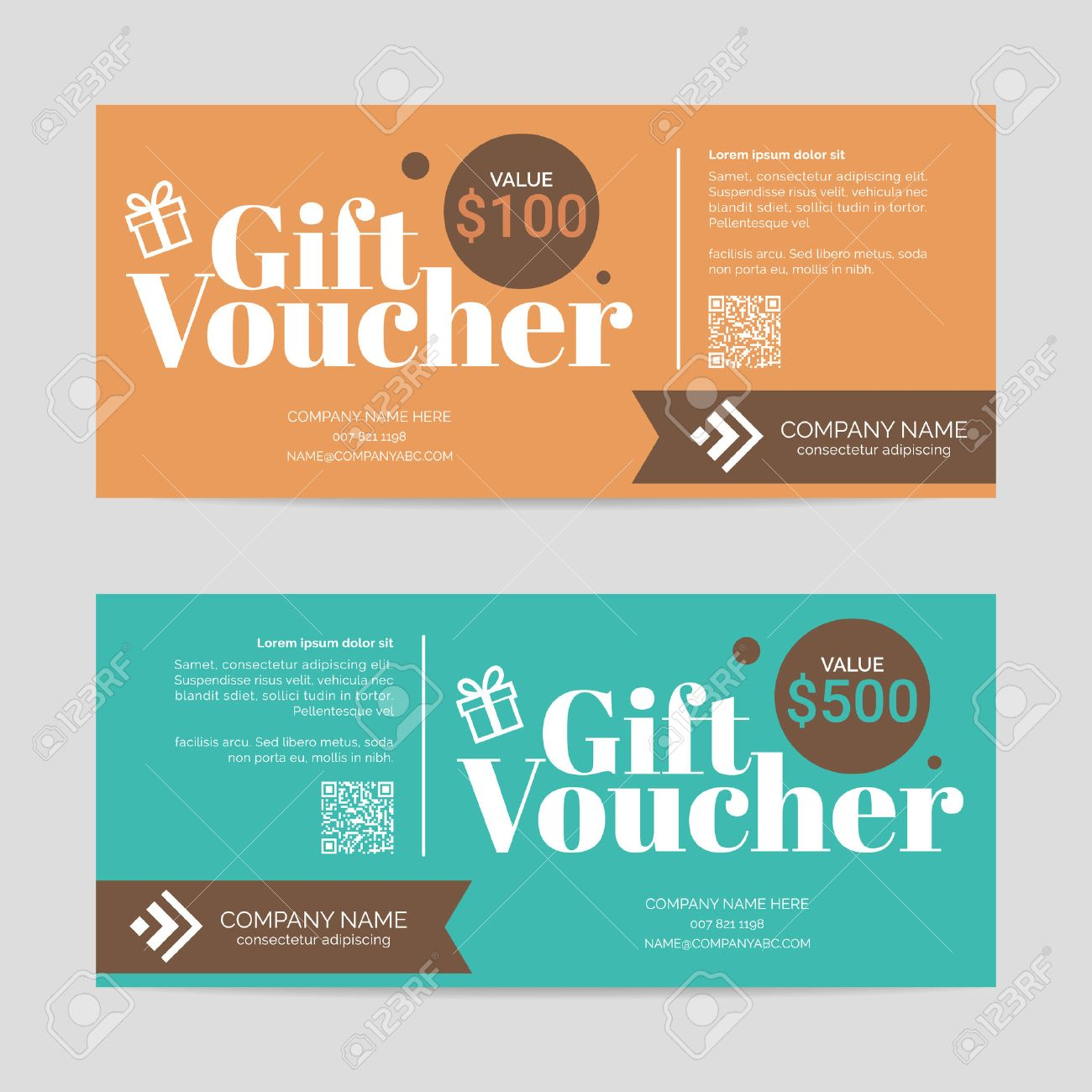 gift voucher template eps10 vector format royalty cliparts gift voucher template eps10 vector format stock vector 48123713