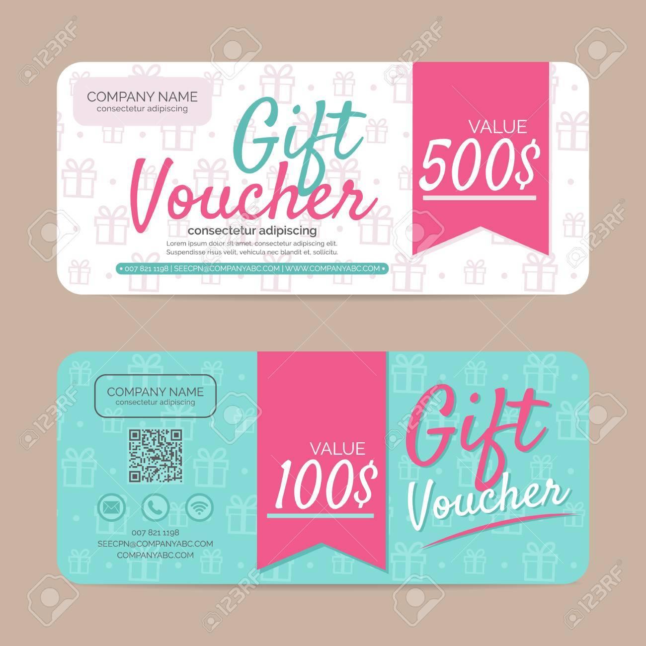 Gift Voucher Template , Eps10 Vector Format Stock Vector   48123901  Gift Voucher Format
