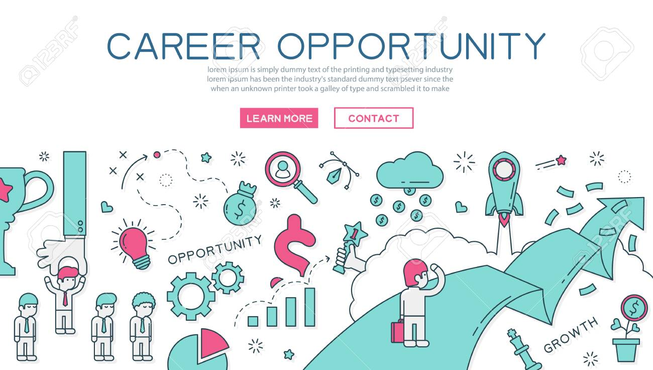 Career Opportunity For Website Banner And Landing Page Royalty Free Cliparts Vectors And Stock Illustration Image 51695189