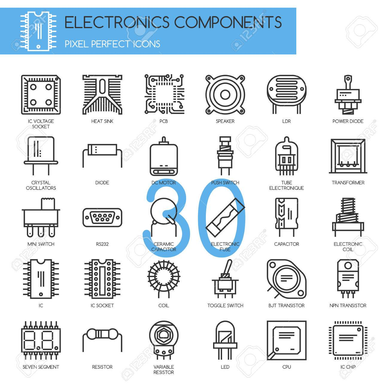 Tolle Elektronische Symbole Und Komponenten Galerie - Elektrische ...
