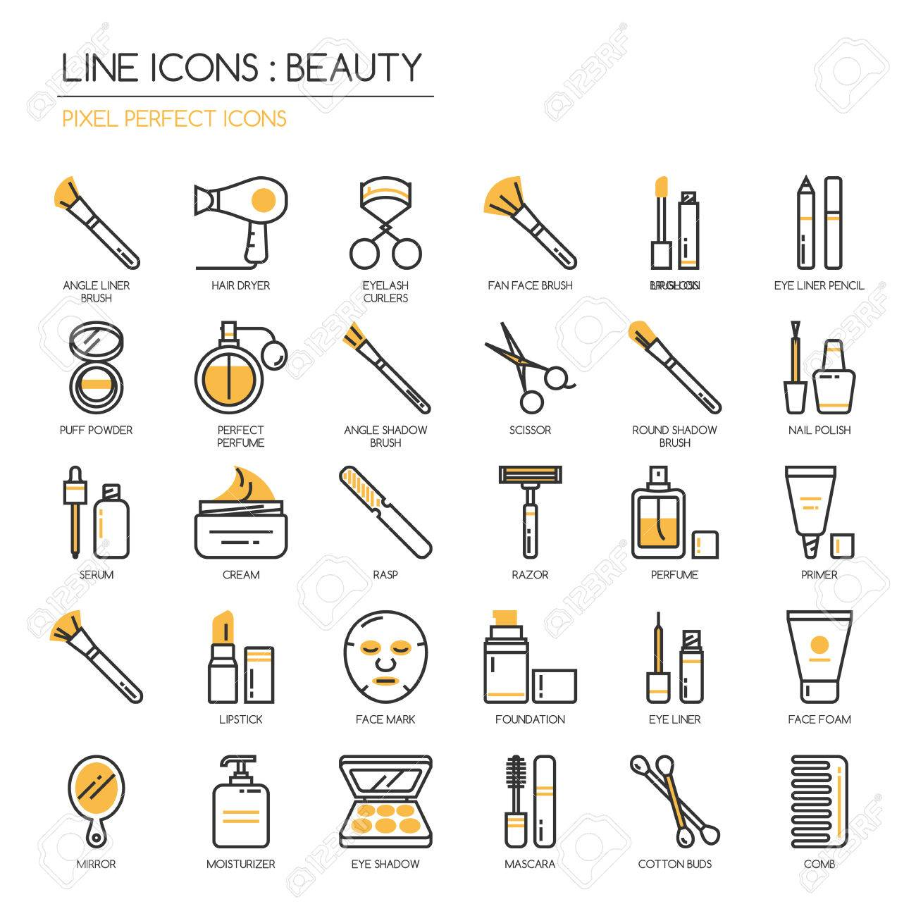 Beauty , thin line icons set ,pixel perfect icon - 57267022