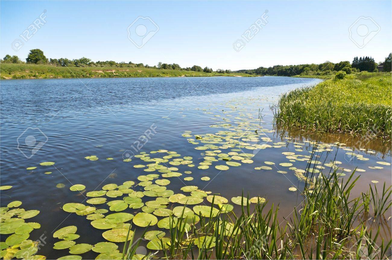Wild river the Venta in Latvia. Stock Photo - 9958156