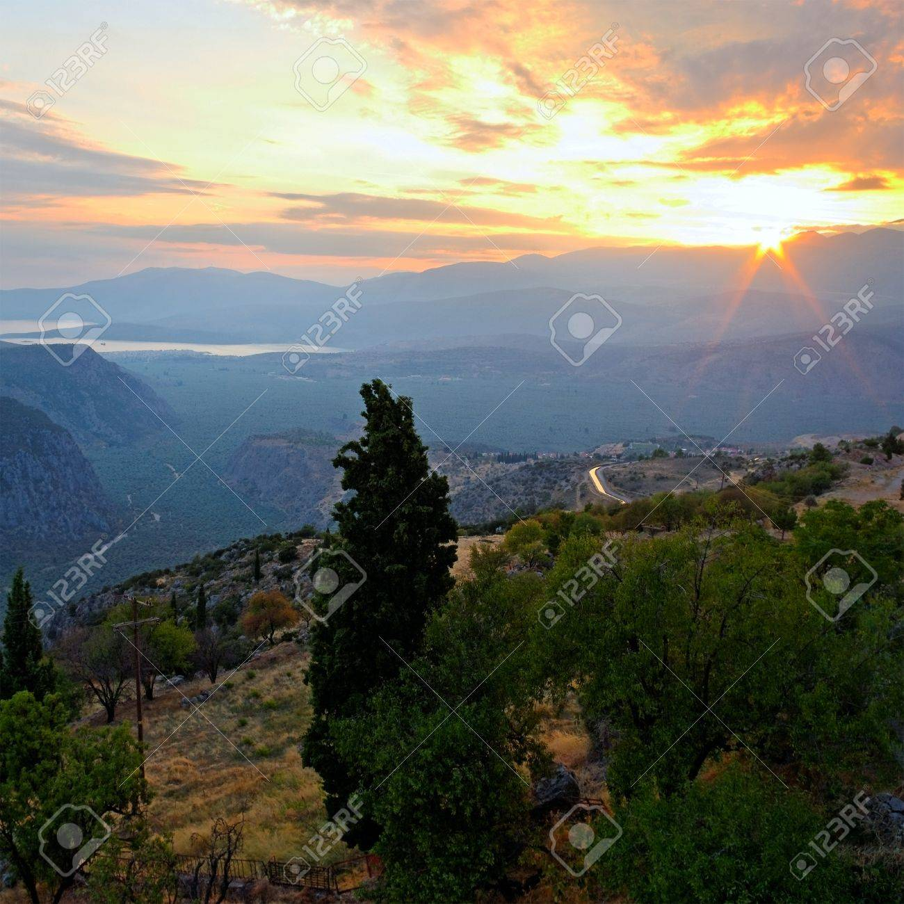 Mountain landscape in Greece, Delfi district Stock Photo - 19192128