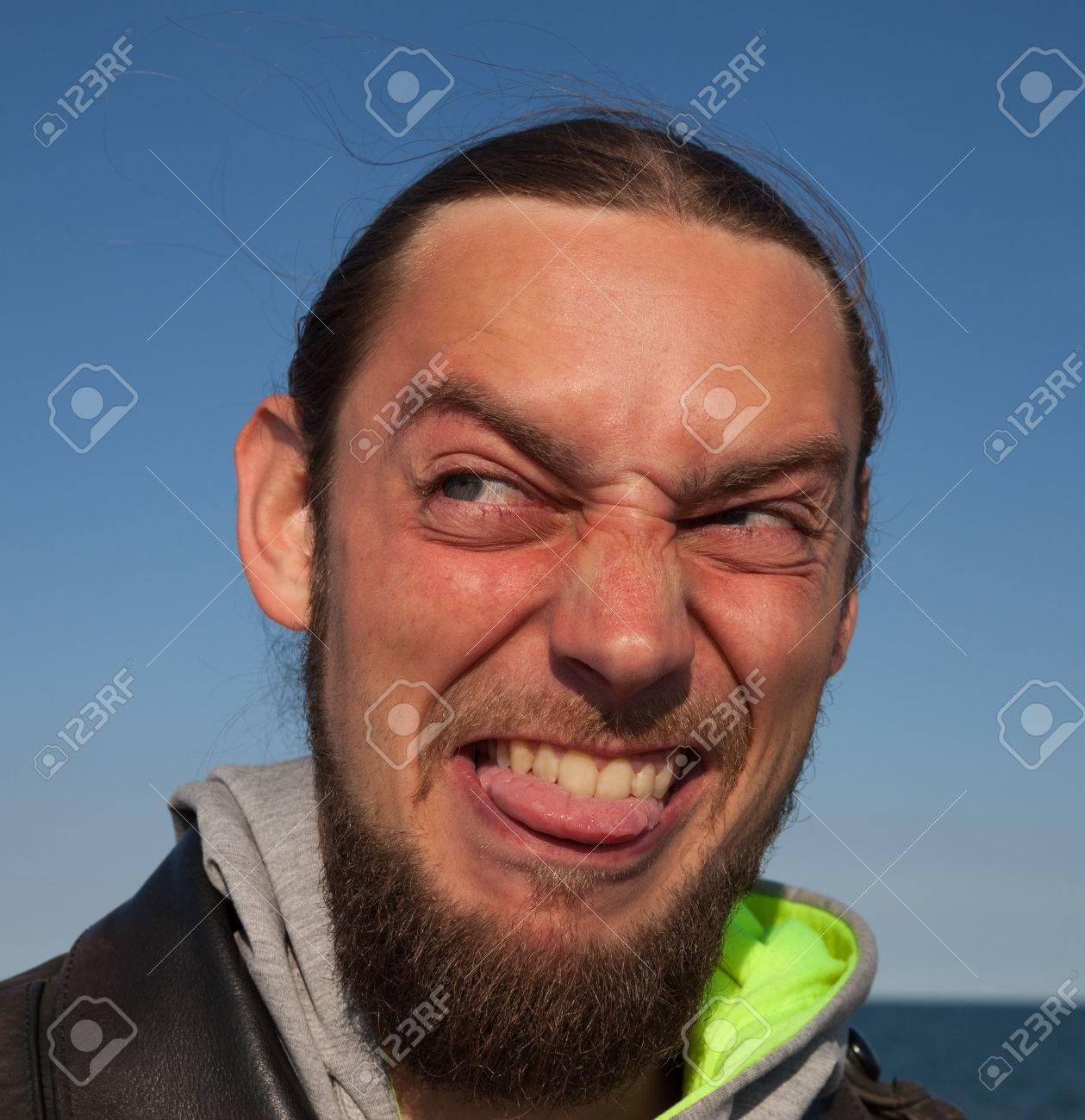 Gesicht frau hässliches Die grüne