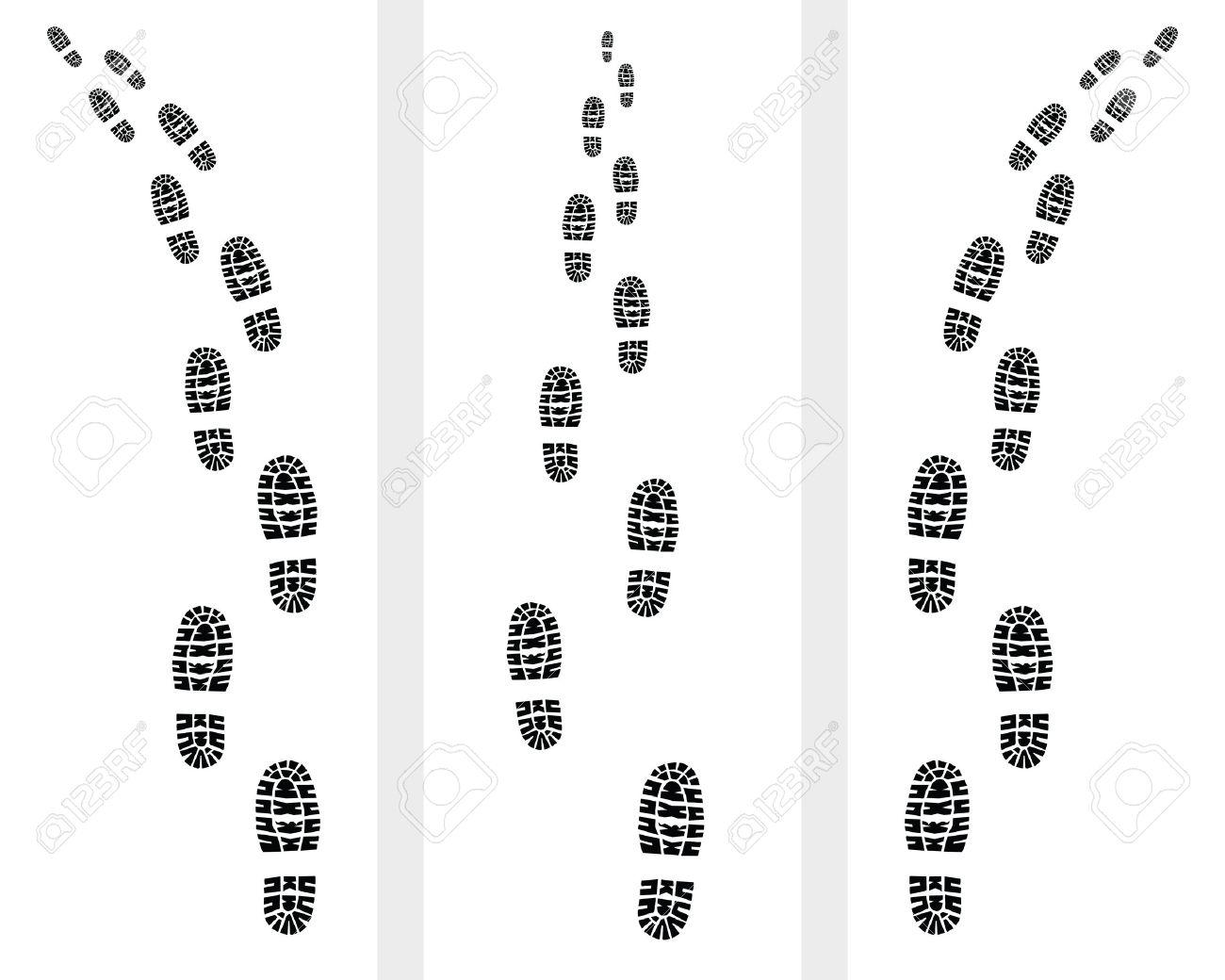 Las De Los Camino Huellas ZapatosIlustración bY67gfyv