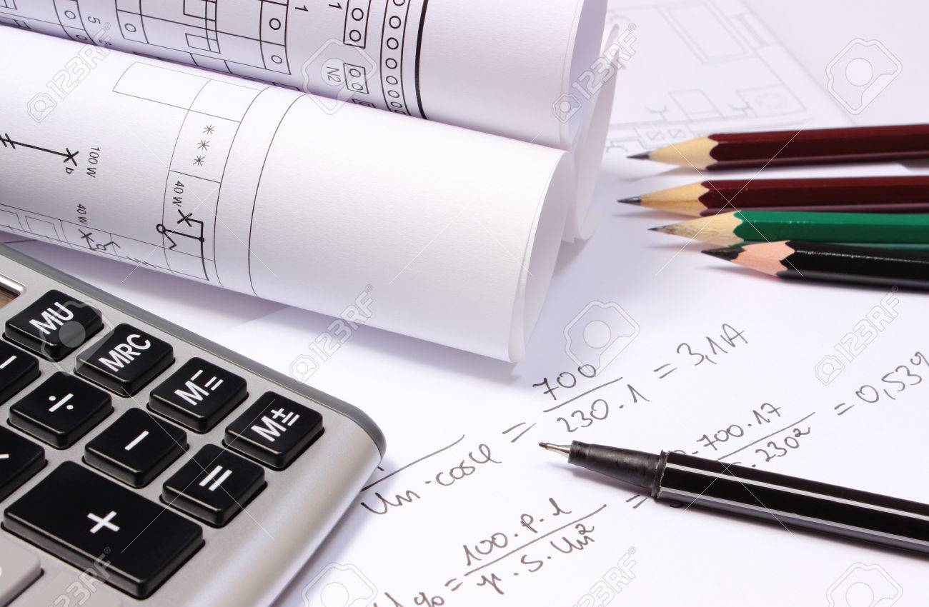 Rolled electrical diagrams calculator pencils and mathematical rolled electrical diagrams calculator pencils and mathematical calculations for project drawings for the ccuart Image collections