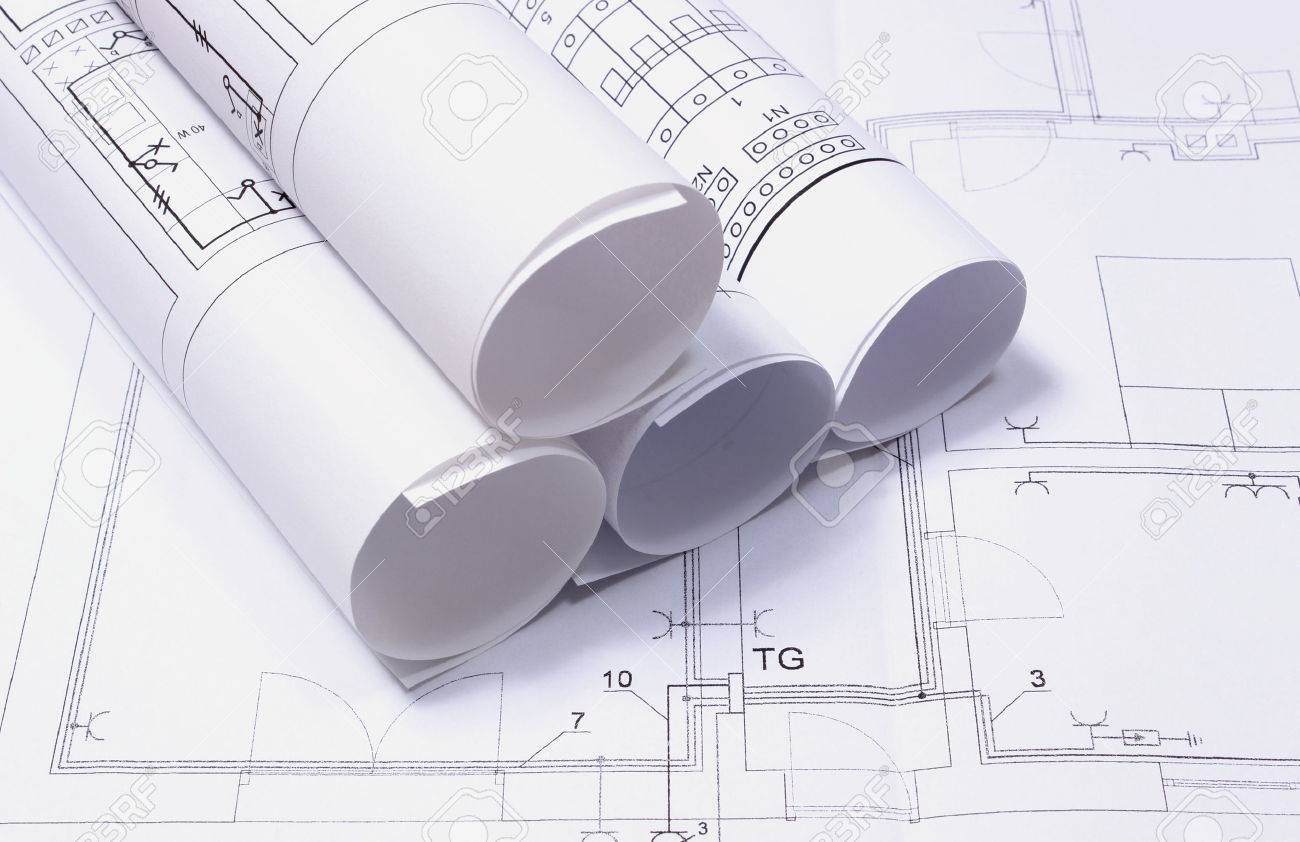 Rolls of electrical diagrams on construction drawing, drawings on electrical drawings home electrical drawings Electrical Drafting Tools