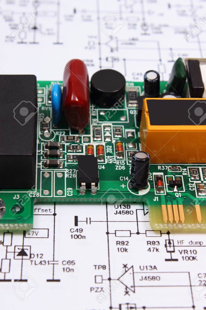 Electronic Circuit Construction Jobs Wiring Diagrams Caig Cw100p Writer Conductive Ink Pen Printed Board With Electrical Components Lying On Rh 123rf Com Boards Parts