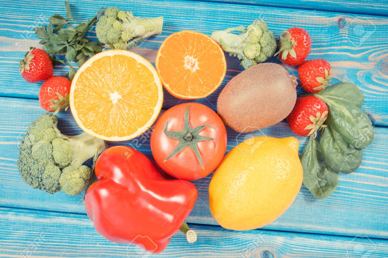 Fresh fruits and vegetables containing vitamin c natural minerals fresh fruits and vegetables containing vitamin c natural minerals and dietary fiber healthy lifestyle workwithnaturefo