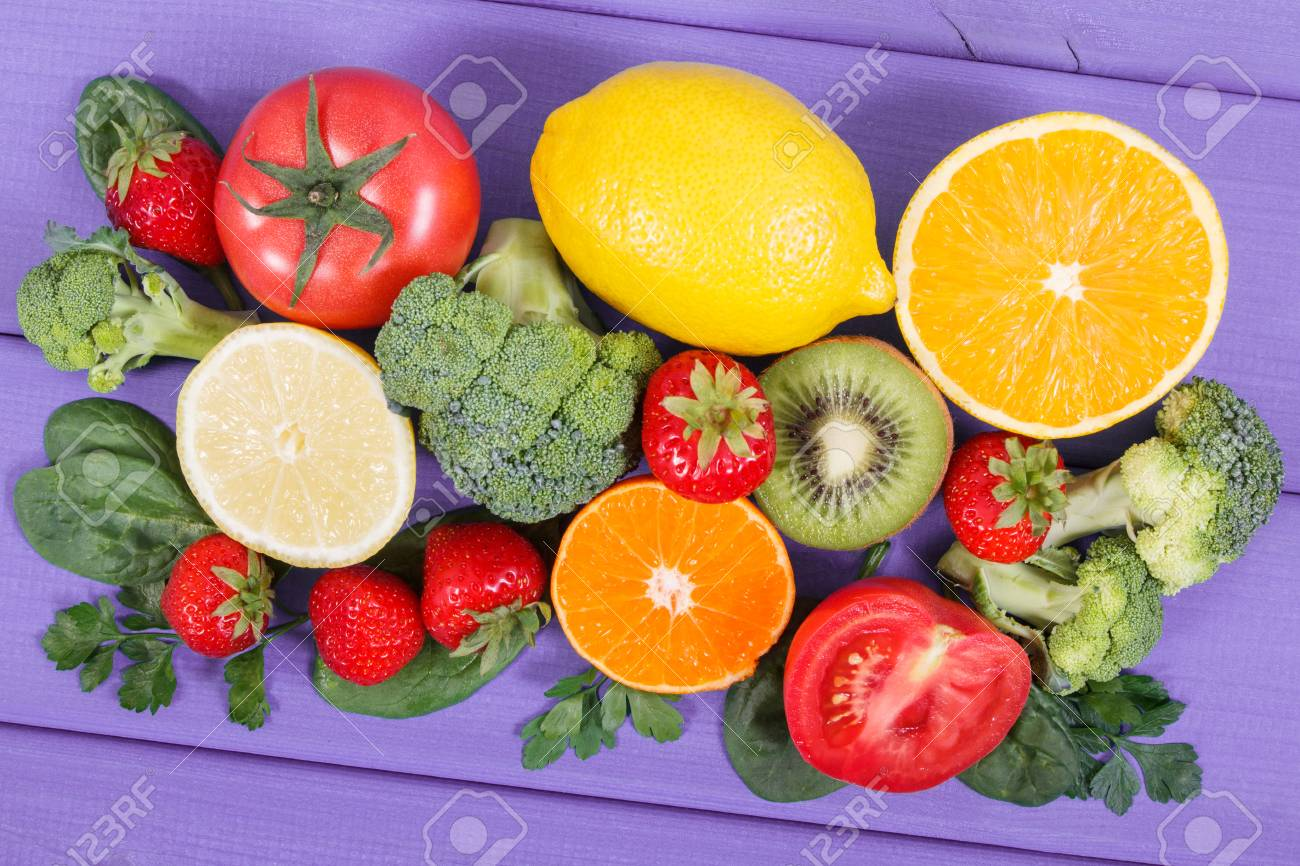 Healthy ripe fruits and vegetables containing vitamin c natural healthy ripe fruits and vegetables containing vitamin c natural minerals and dietary fiber healthy workwithnaturefo