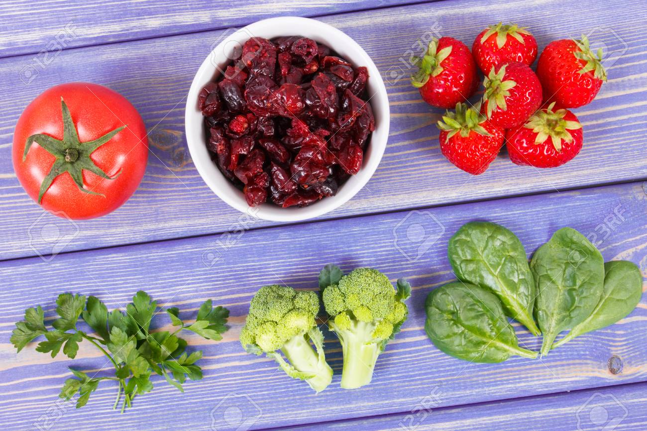 Fresh fruits and vegetables containing vitamin c and fiber concept fresh fruits and vegetables containing vitamin c and fiber concept of healthy food and strengthening workwithnaturefo