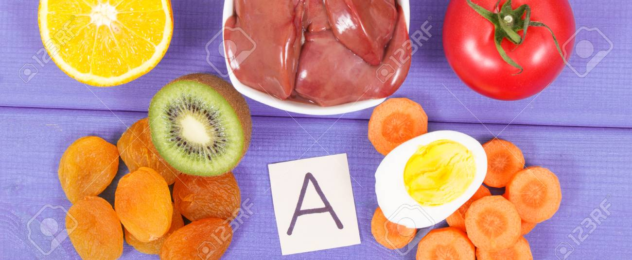 Chicken Liver With Fruits And Vegetables As Source Vitamin A