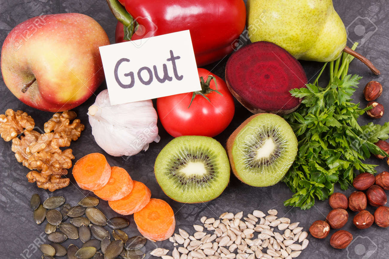 Best healthy nutritious food to treat gout inflammation and for kidneys health - 125101939