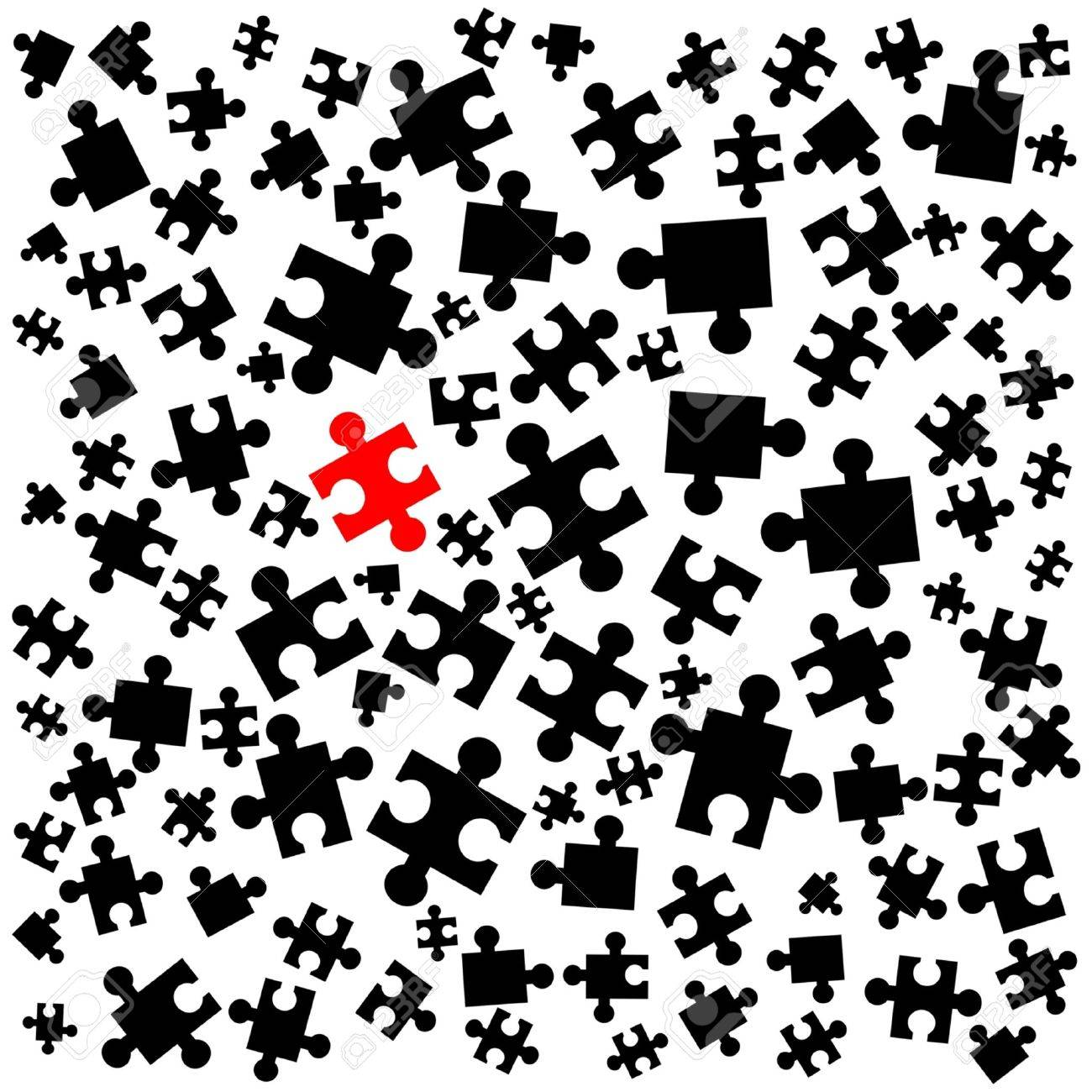 Abstract Wallpaper Of Puzzle Pieces Royalty Free Cliparts, Vectors ...