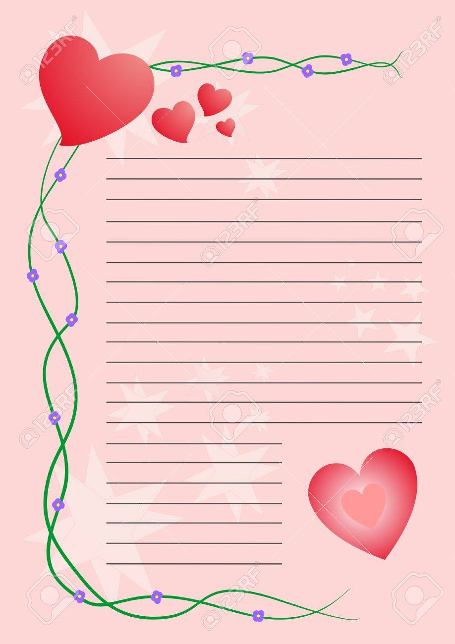 letter pink with hearts for valentines day stock vector 9183526