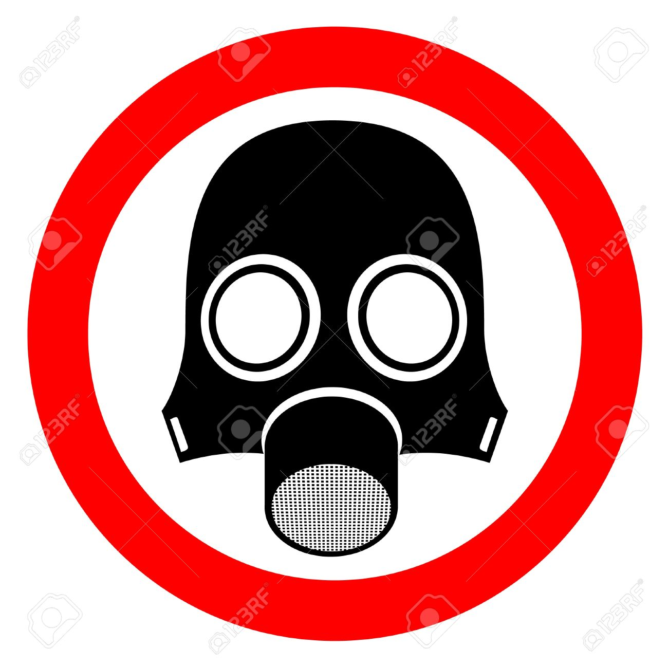 Signal indicating danger of poisonous gas Stock Vector - 9243401
