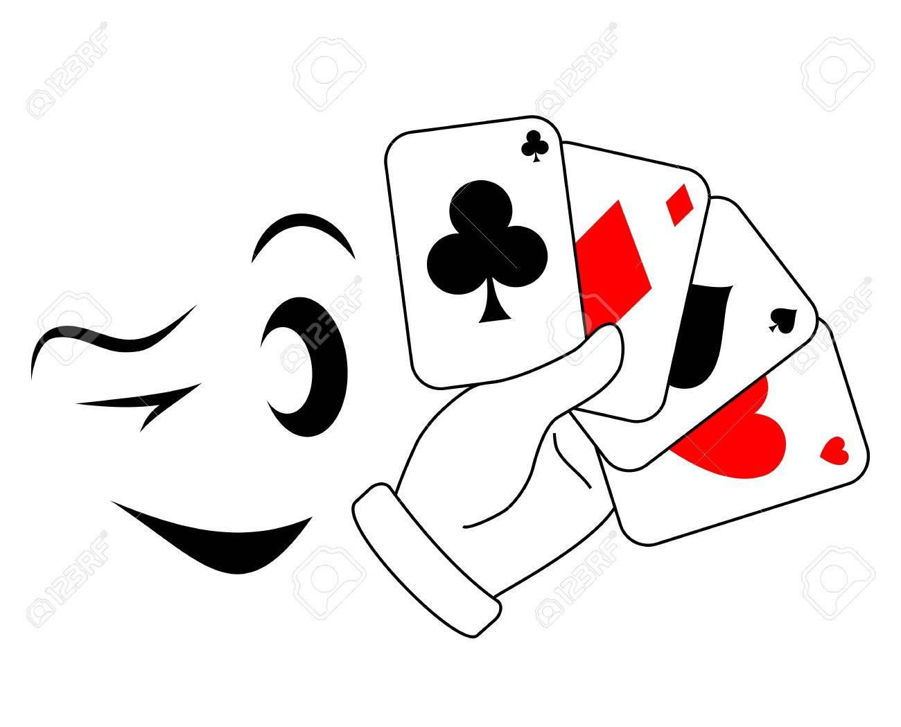 Draw Poker Player With A Wink Royalty Free Cliparts Vectors And