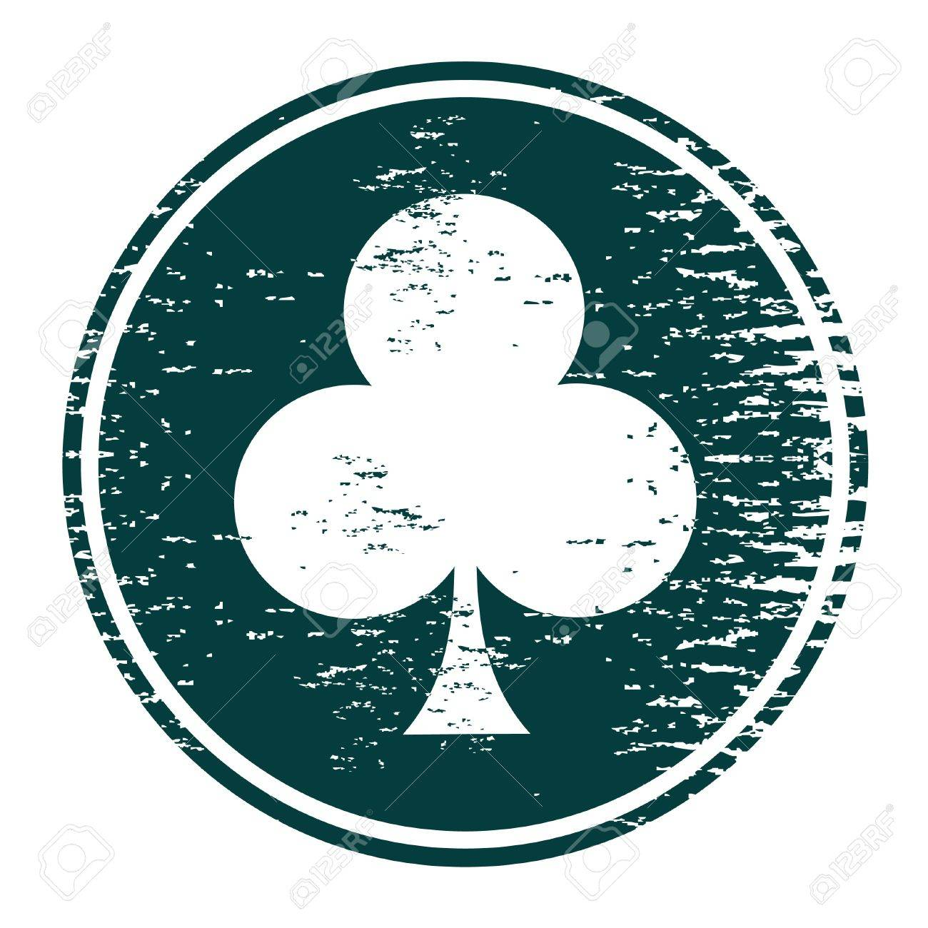 Circular sign with a shamrock in the center Stock Vector - 9485175