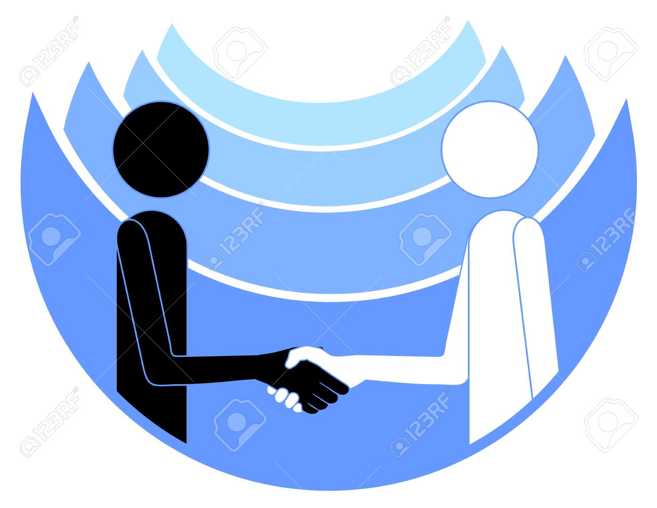 Abstract drawing of two people shaking hands Stock Vector - 9549238