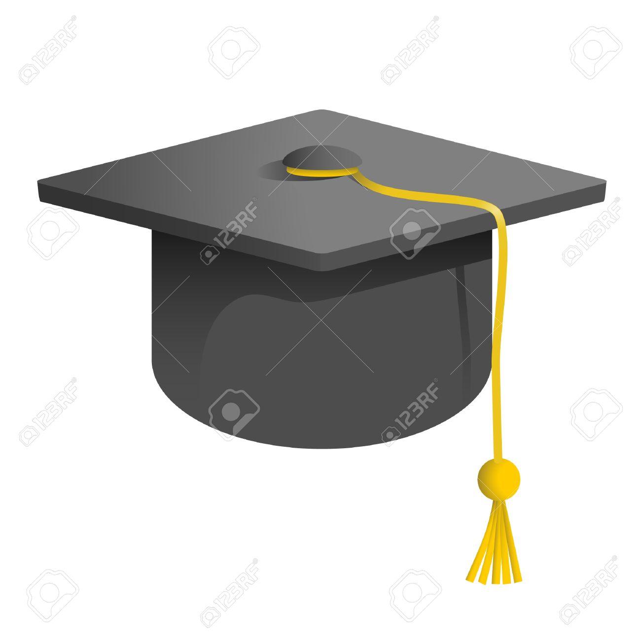 Foto de archivo , dibujo de un gorro de graduación de la Universidad