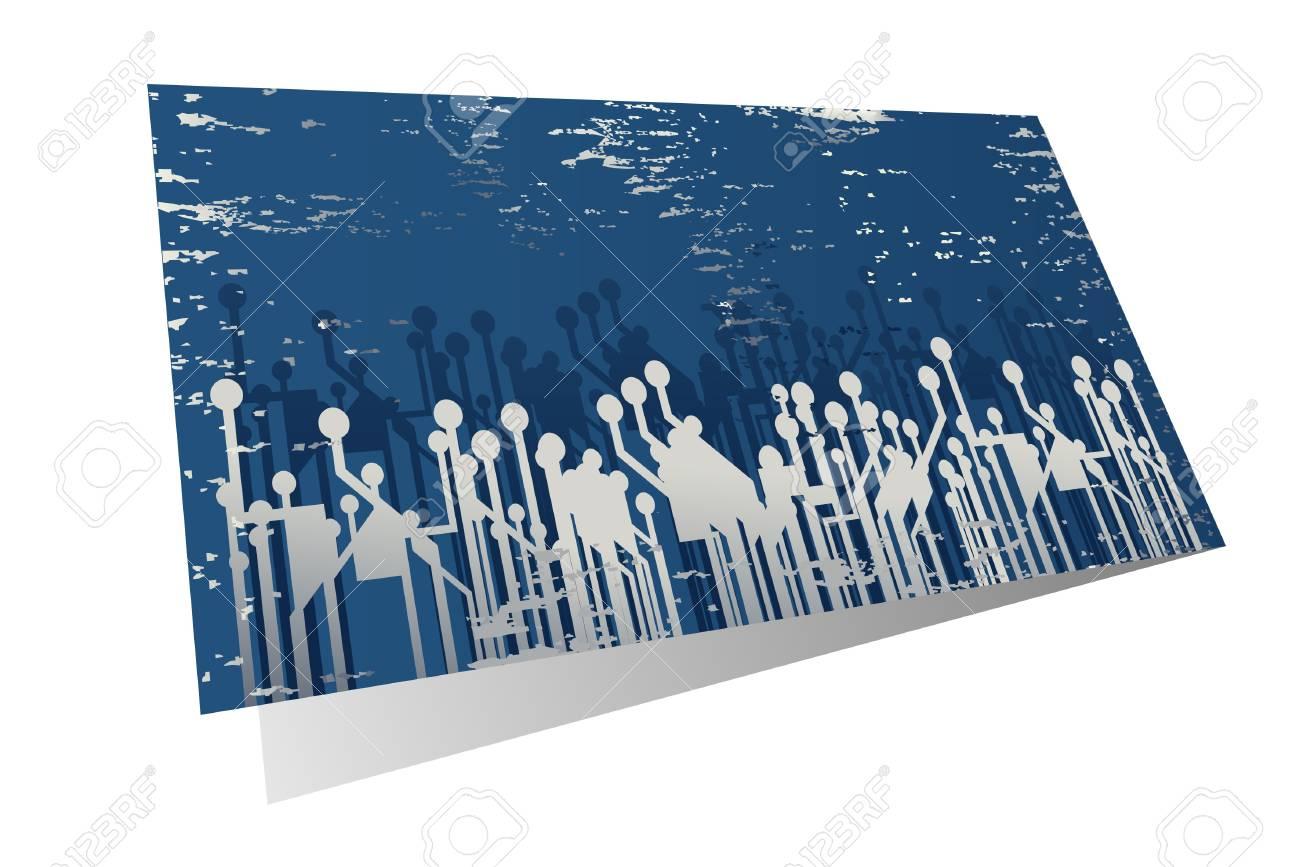 Blue card with creative design Stock Vector - 9730196