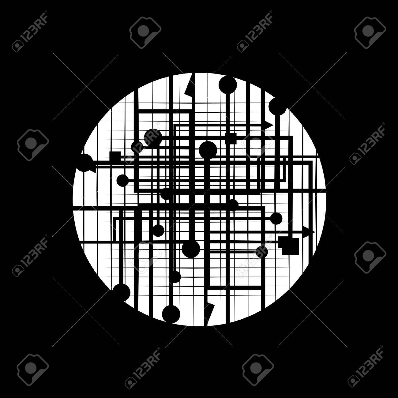 Black background with creative design Stock Vector - 9835265