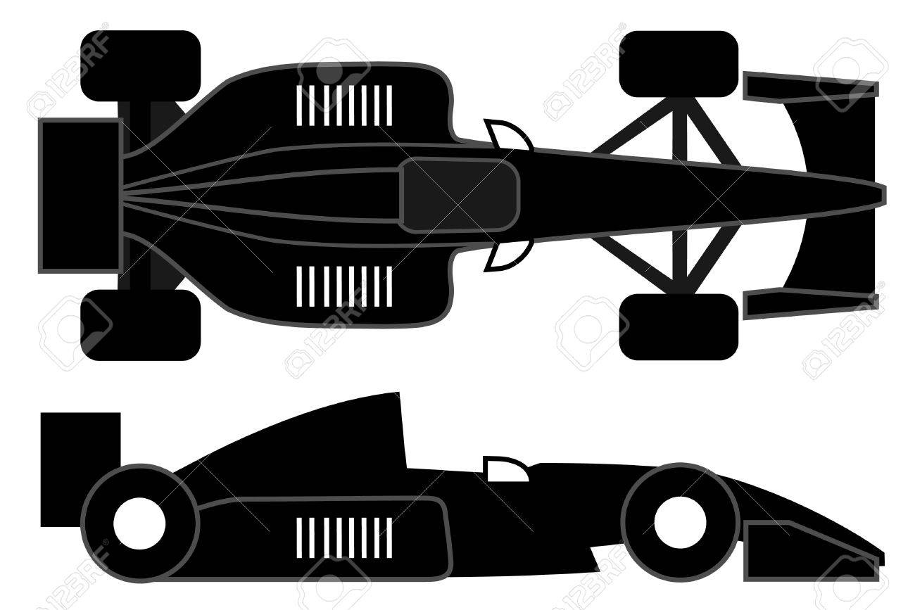 Racing car design at two positions Stock Vector - 10248388