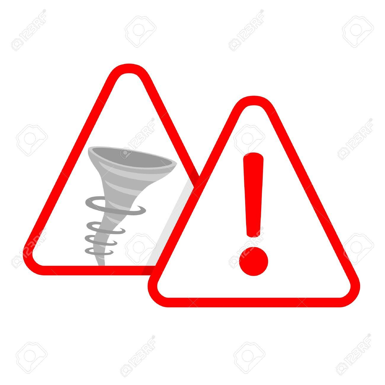 Signs warning of the danger of tornadoes Stock Vector - 10444706