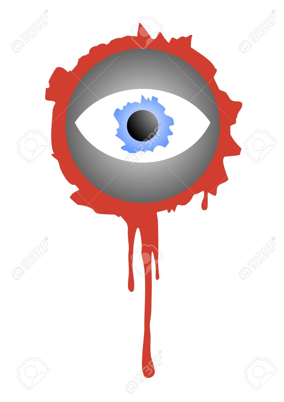 Bloody eye for decorating halloween Stock Vector - 10521700