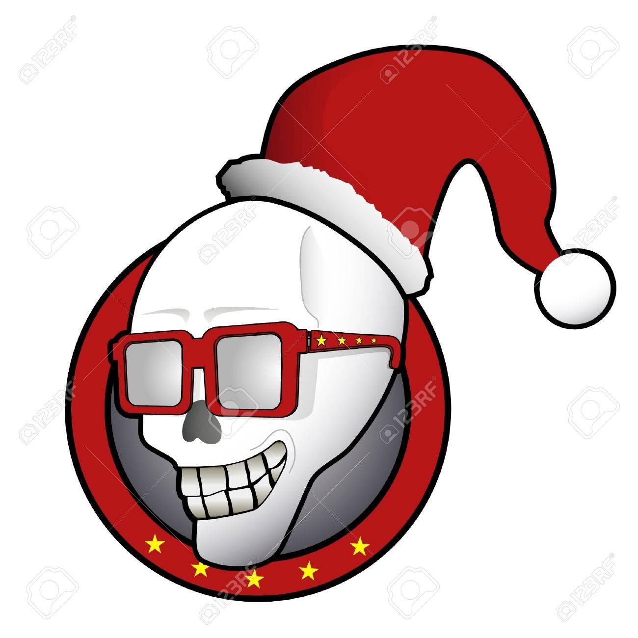 Funny Christmas skull Stock Vector - 10605651