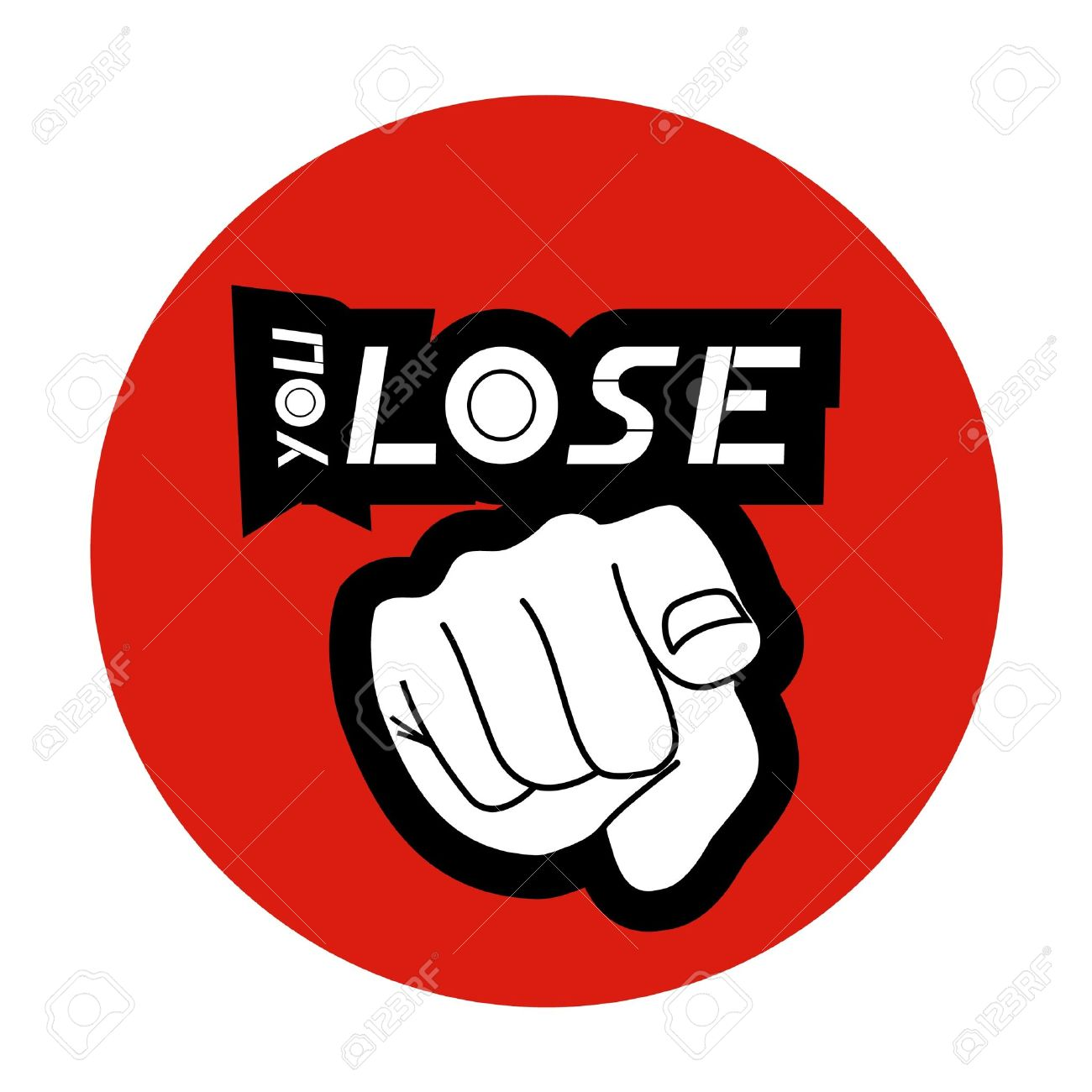 You lose Stock Vector - 10584701
