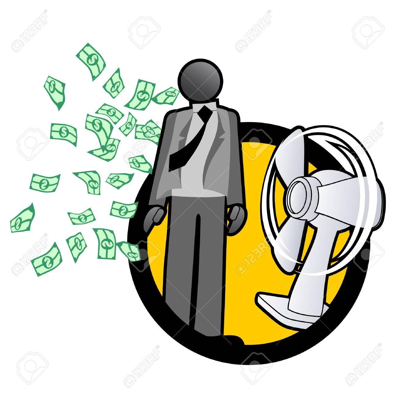 Abstract illustration of millionaire businessman Stock Vector - 10605669