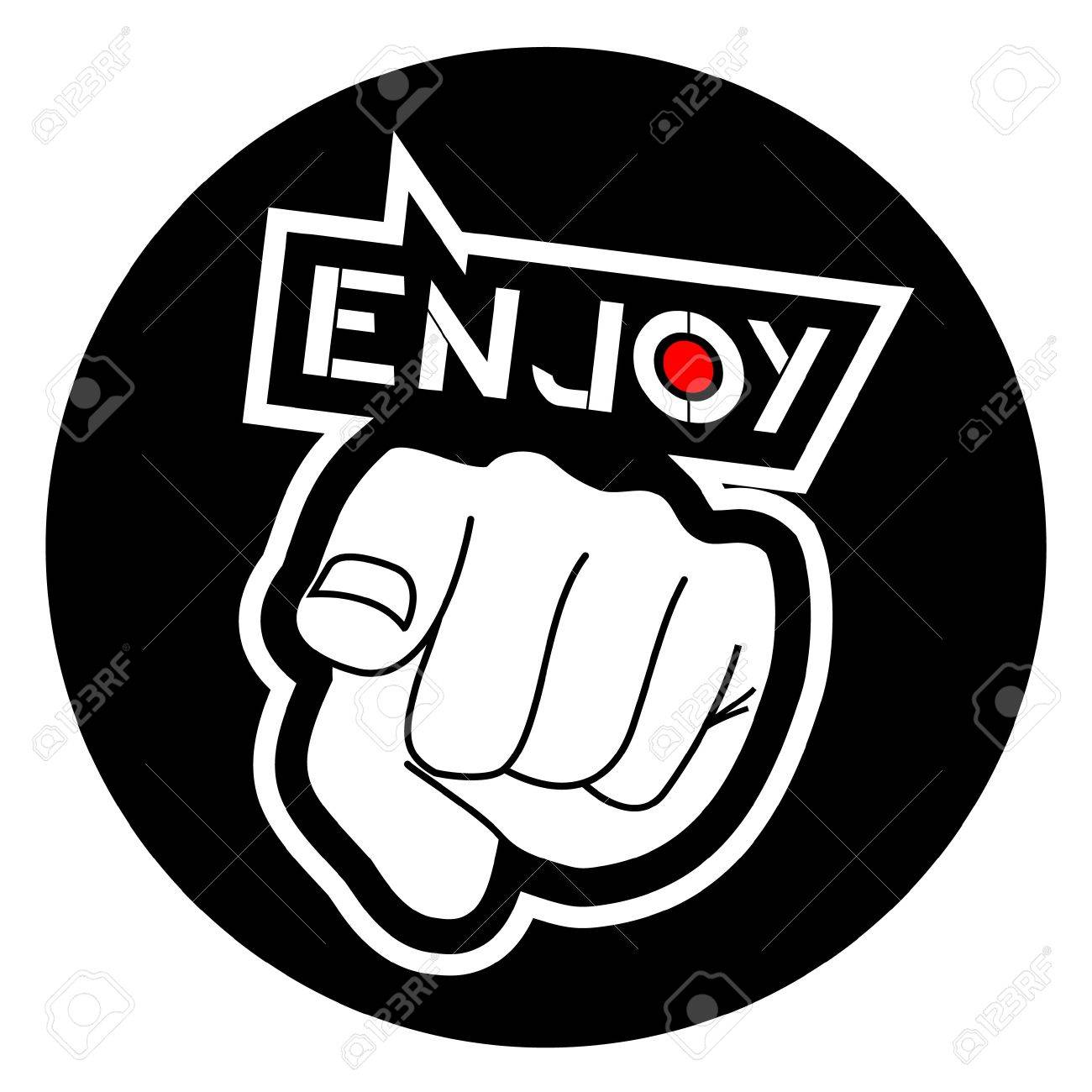 Hand advising you to enjoy Stock Vector - 10658012