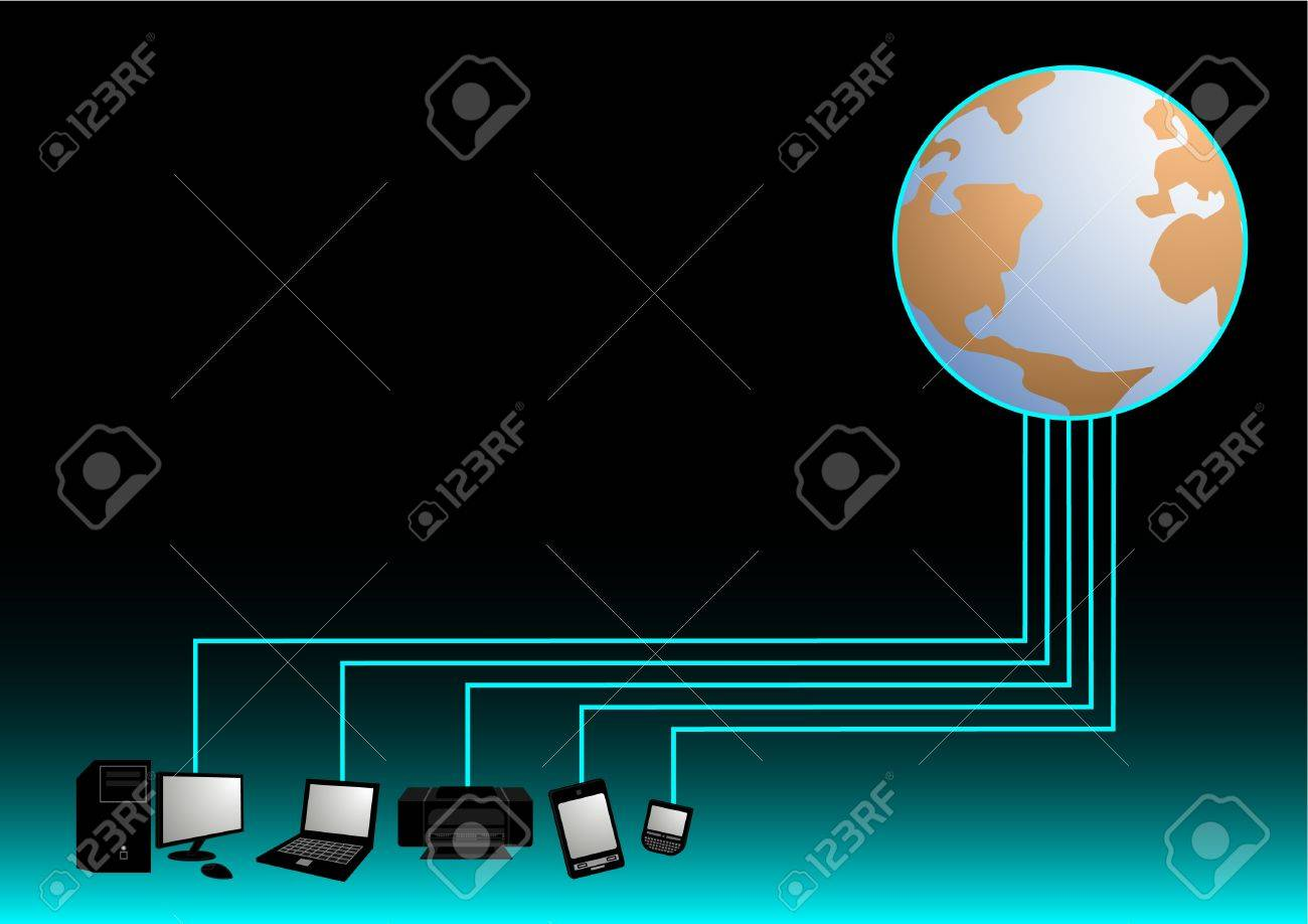 World tech Stock Vector - 10659012