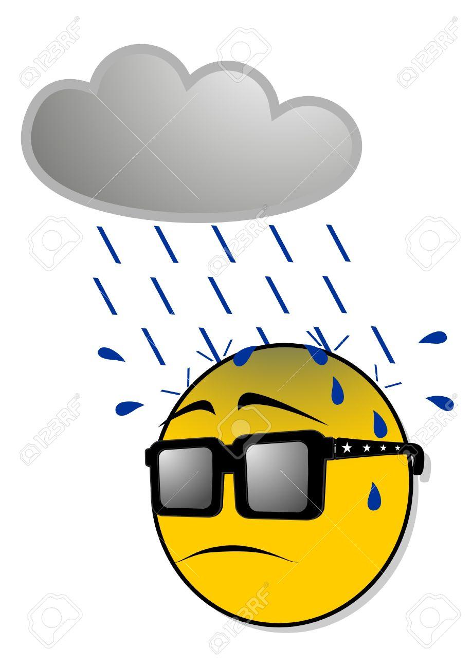 Vous bricolez quoi en ce moment? - Page 2 10679059-Emoticon-sous-la-pluie-Banque-d'images