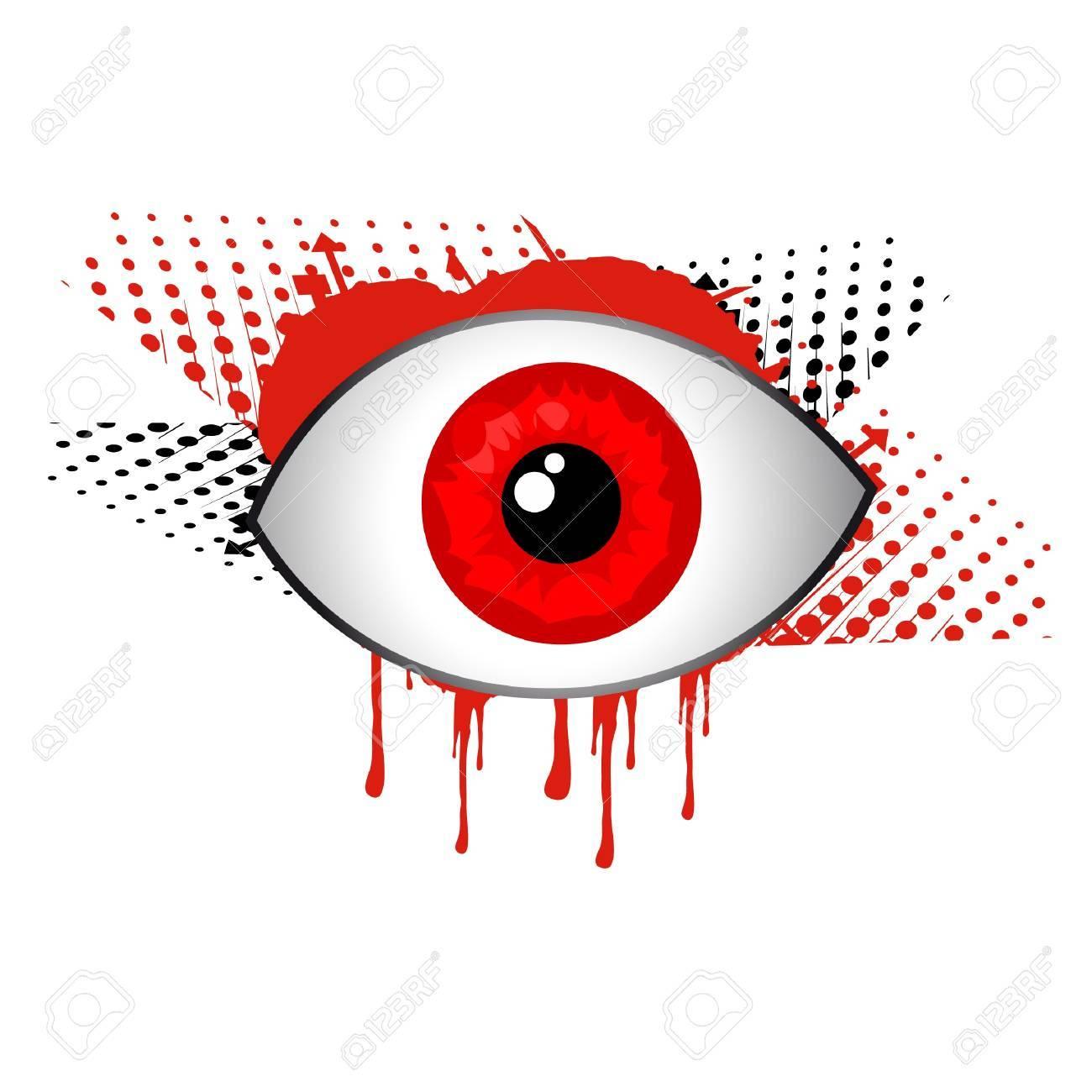 Red eye design Stock Vector - 10876852