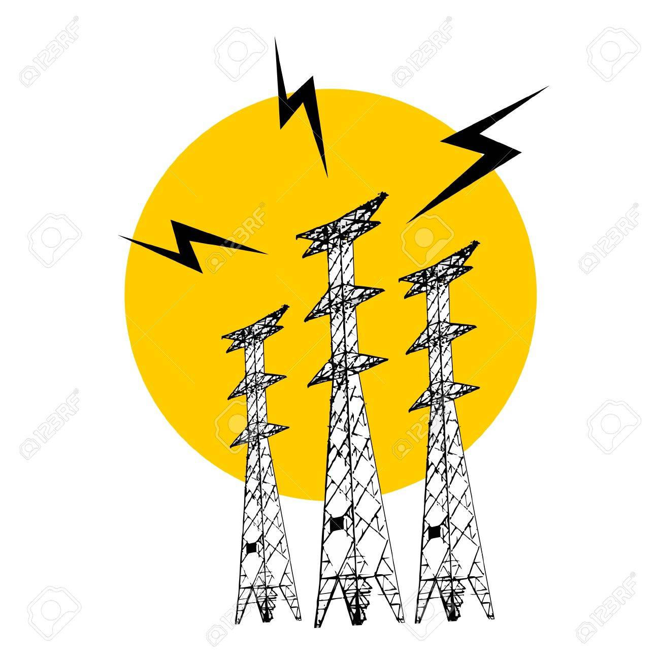Power tower Stock Vector - 11573498