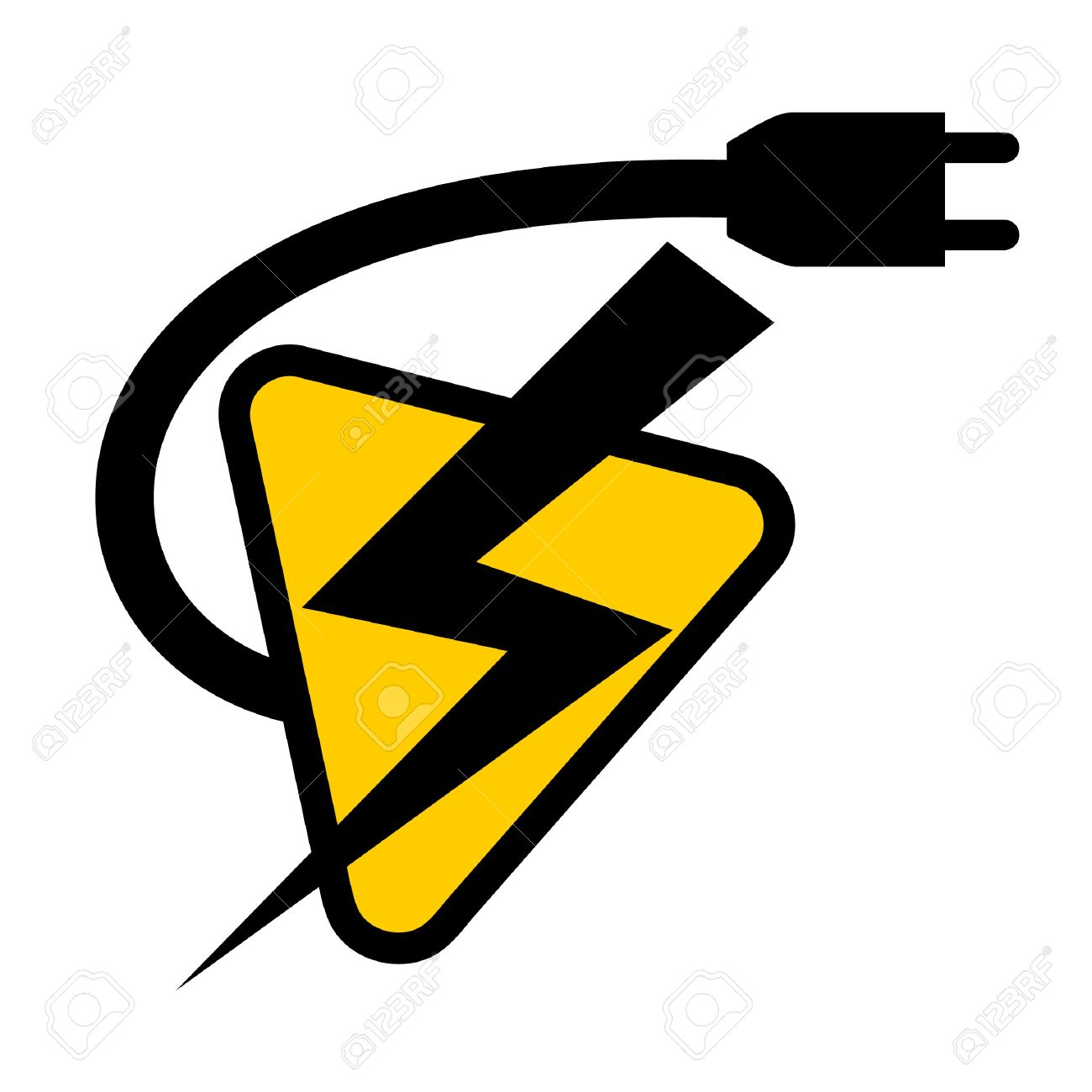 Symbol Electricity Dolgularcom 11573519 Battery Stock Vector Electric Icon Wire Clipart Plug Outlet Pencil