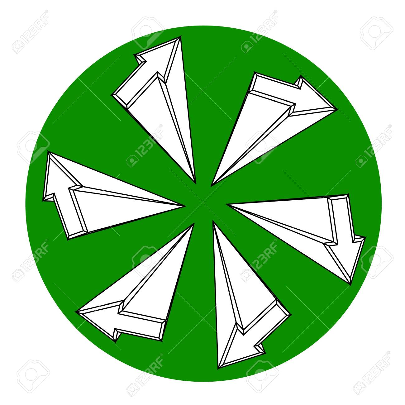 Green circle arrows icon Stock Vector - 11821953