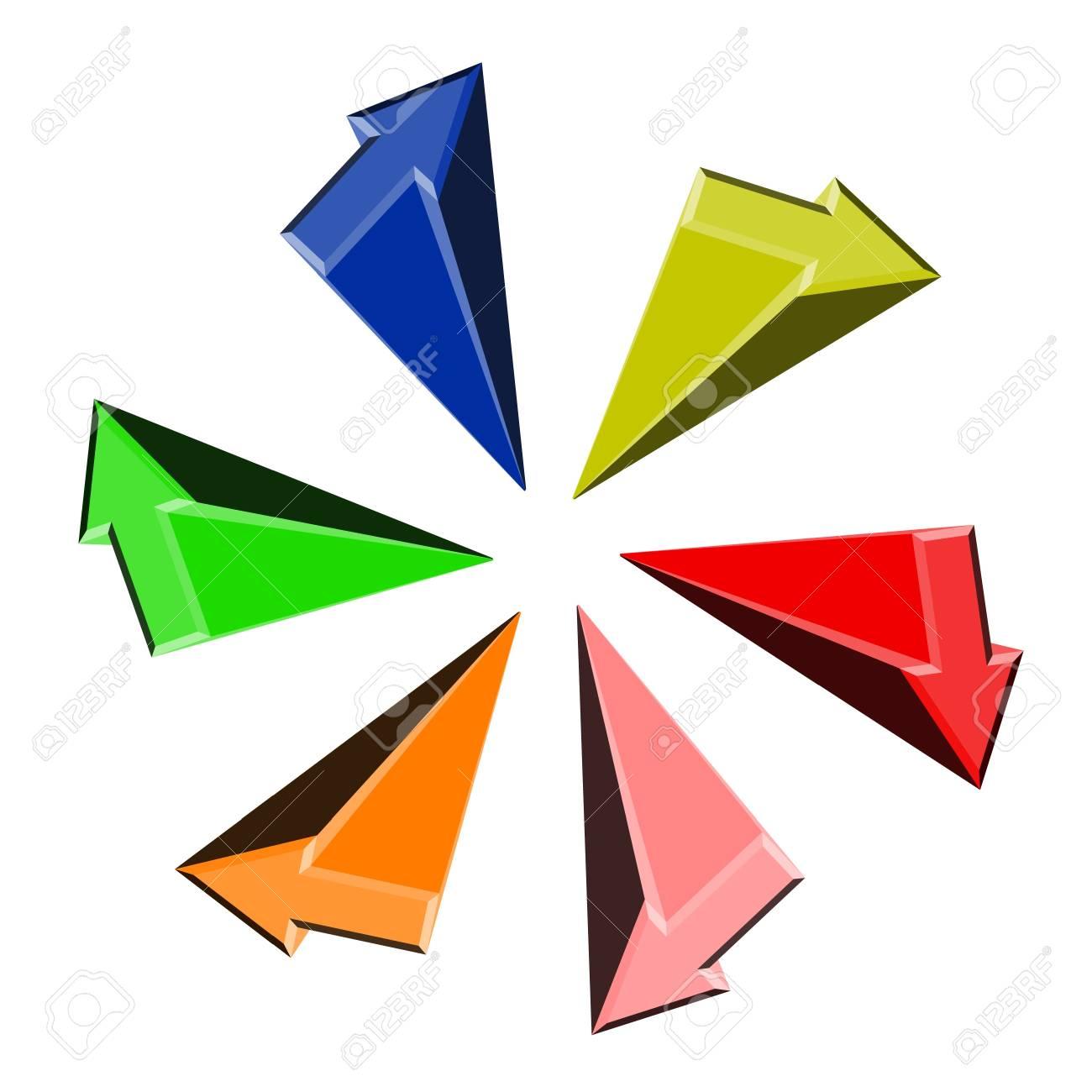 Color arrows icon Stock Vector - 11821958