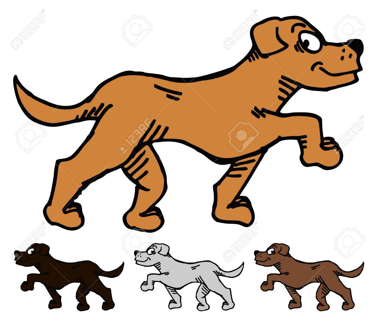 draw of happy pet cartoon royalty free cliparts vectors and